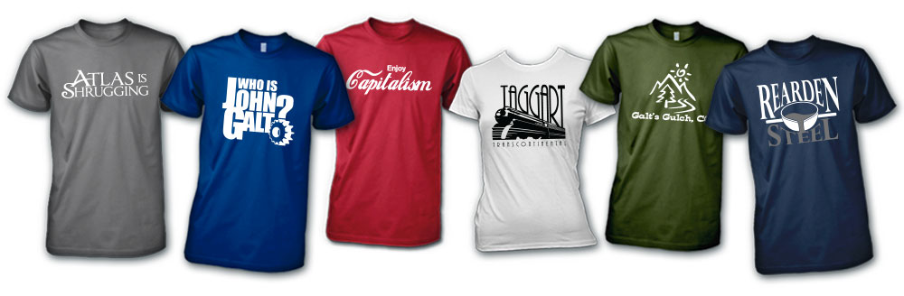 Many Atlas Shrugged Clothing Options!