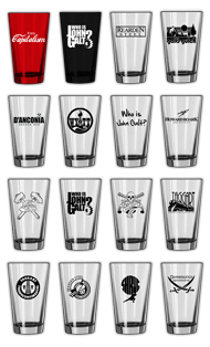 Pint Glasses (many design choices!)