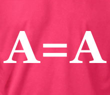 A = A (Block Font) - Ladies' Tee