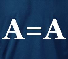 A = A (Block Font) - Hoodie