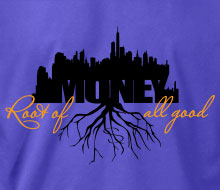 Money: Root of all Good (Skyline) - Ladies' Tee