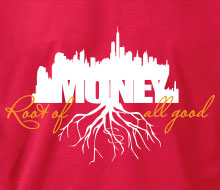 Money: Root of all Good (Skyline) - Long Sleeve Tee