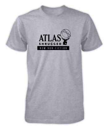 Atlas Shrugged (Globe, Now Non-Fiction) - T-Shirt