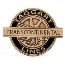 Official Taggart Transcontinental Lapel Pin (Original)
