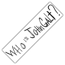 "Official ""Who is John Galt?"" Bumper Sticker (White)"