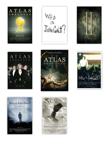 Full Set of All 8 Atlas Shrugged Movie Posters