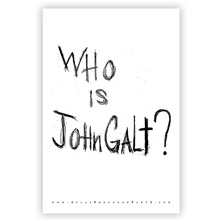 "Atlas Shrugged Part I Movie Poster: ""Who is John Galt?"""
