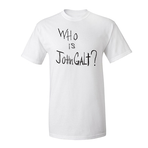 "Official ""Who is John Galt?"" T-Shirt (White)"