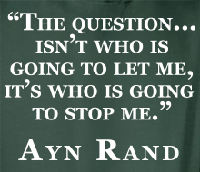 Who's Going to Stop Me? (Ayn Rand Quote) - Limited Edition Hoodie (February 2016)
