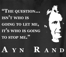 Who's Going to Stop Me? (Ayn Rand Quote + Profile) - Limited Edition Hoodie (February 2016)