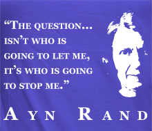 Who's Going to Stop Me? (Ayn Rand Quote + Profile) - Limited Edition Ladies' Tee (February 2016)