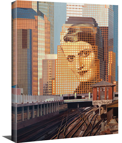 "Portrait of Ayn Rand (16""x20"" or 24""x30"" Gallery Wrapped Canvas Painting) - SPECIAL ORDER (Ships in 7-10 days)"