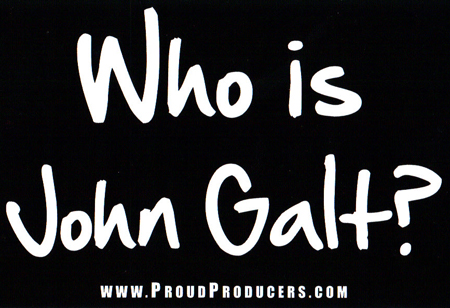 Who is john galt black bumper sticker 4