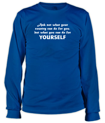Do For YOURSELF (Text Only) - Long Sleeve Tee