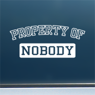 "Property of Nobody - Vinyl Decal/Sticker (8"" wide)"