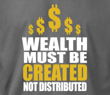 Wealth Must Be Created - Long Sleeve Tee