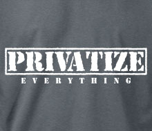 Privatize Everything - Long Sleeve Tee