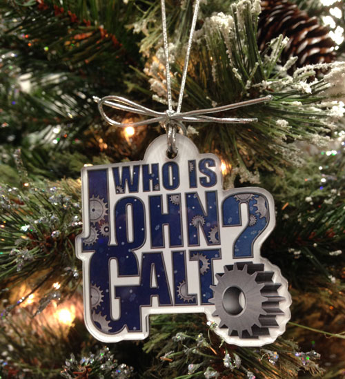Who is John Galt? Holiday Ornament