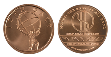 John Galt (Atlas Statue) 1oz Pure Copper Medallion