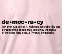 The Definition of Democracy - Ladies' Tee