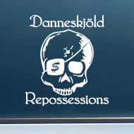 "Danneskj�ld Repossessions (Skull) - Vinyl Decal/Sticker (5"" wide)"