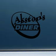 "Akston's Diner (Round) - Vinyl Decal/Sticker (5"" wide)"