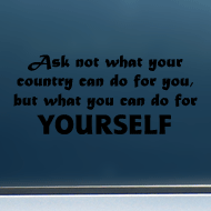 "Do For YOURSELF - Vinyl Decal/Sticker (8"" wide)"