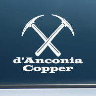 "d'Anconia Copper - Vinyl Decal/Sticker (5"" wide)"