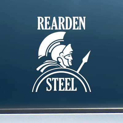"Rearden Steel (Warrior) - Vinyl Decal/Sticker (4"" wide)"