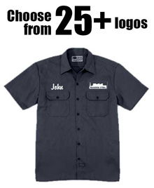 Dickies Work Shirts (Navy with White Print)