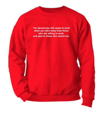 The Democracy Will Cease to Exist - Crewneck Sweatshirt