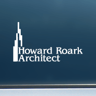 "Howard Roark, Architect (Skyline) - Vinyl Decal/Sticker (6"" wide)"