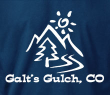 Galt's Gulch, CO - T-Shirt (Small Corner Print)
