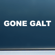 "GONE GALT - Vinyl Decal/Sticker (8"" wide)"
