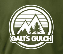 Galt's Gulch (Circle) - T-Shirt