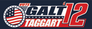 "Galt Taggart Flag Sticker (10"" wide)"
