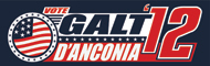 "Galt d'Anconia Flag Sticker (10"" wide)"