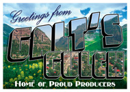"Greetings From Galt's Gulch Sticker (6"" wide)"