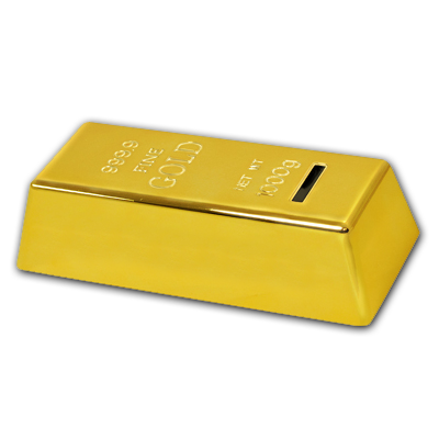 Gold Bar Coin Bank