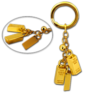 Gold Bar 24K Gold Plated Key Chain