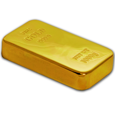ProudProducers.com | Gold Bar Solid Brass 24K Gold Plated Paperweight ...