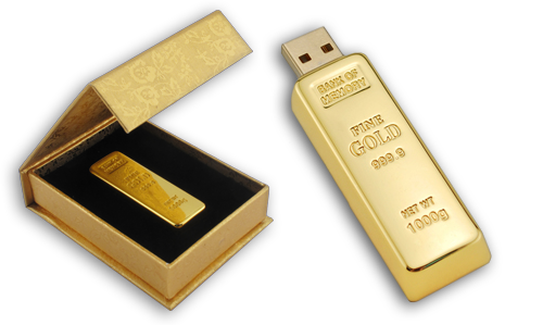 Gold Bar USB Jump Drive (16GB)