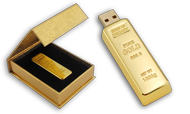 Gold Bar USB Jump Drive (4GB) - CLEARANCE!