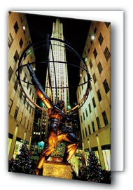Holiday Greeting Card (Atlas Statue)