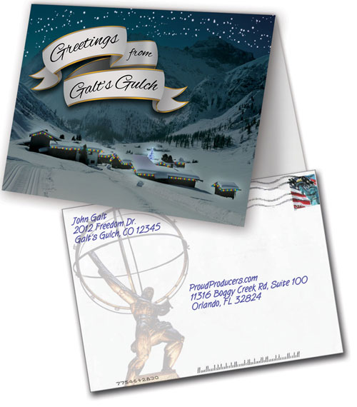 Holiday Greeting Card (Galt's Gulch)
