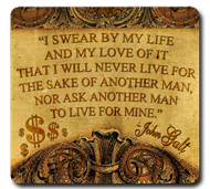 "John Galt ""I Swear"" Quote (Motor) Mousepad"