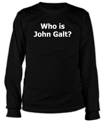 Who is John Galt? (Plain Text) - Long Sleeve Tee