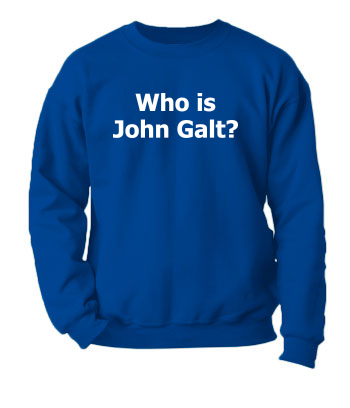 Who is John Galt? (Plain Text) - Crewneck Sweatshirt