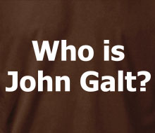Who is John Galt? (Plain Text) - Ladies' Tee