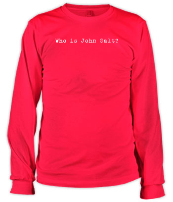 Who is John Galt? (Typewriter) - Long Sleeve Tee